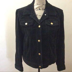 Vintage 90's Ralph Lauren Black Corduroy Jacket